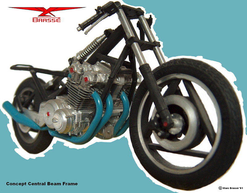 Central Beam motorcycle chassis